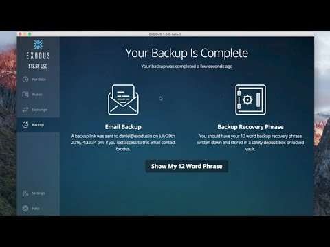 Exodus Step-By-Step Backup