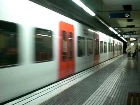 FGC Train Passing through Les Tres Torres