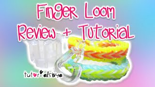 NEW Finger Loom Review + Tutorial | Fishtail & Single Border | Rainbow Loom Thumbnail