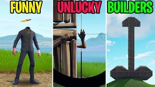 IMMUNE to Headshots with this Glitch! FUNNY vs UNLUCKY vs BUILDERS - Fortnite Funny Moments