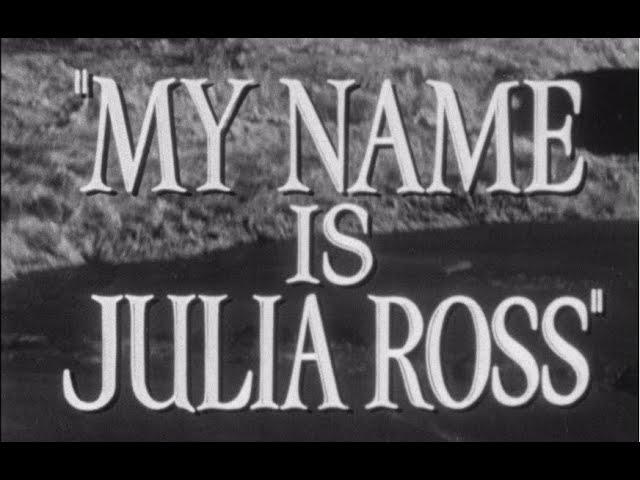 My Name Is Julia Ross Original Trailer (Joseph H. Lewis, 1945)