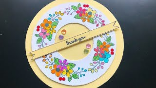 Greeting Card | How to make a greeting card | Wreath Card | Round Greeting Card | Crafts And Kitchen