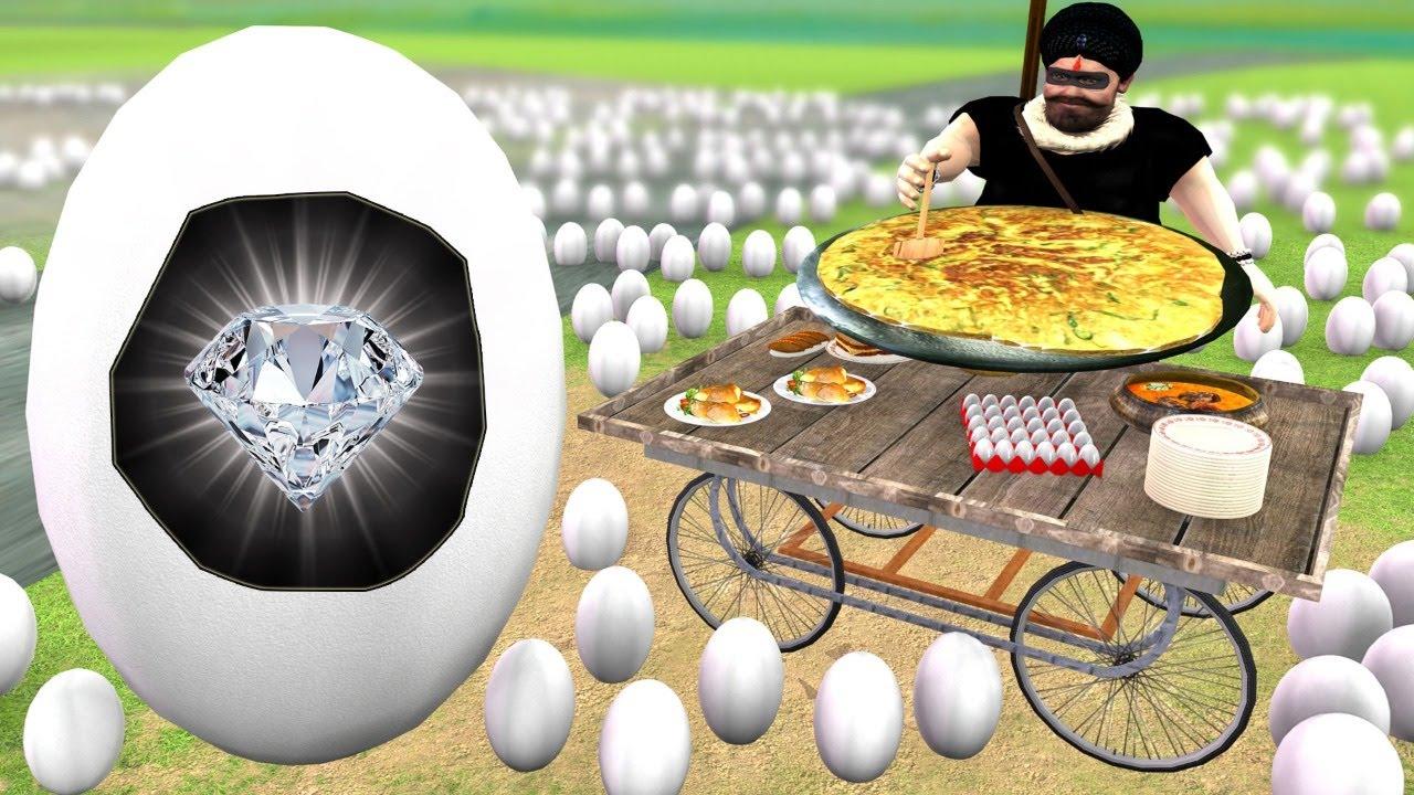 बड़ा ओमलेट और हीरा चोर Giant Omlette Funny Comedy Video - Hindi Kahaniya Stories- Funny Comedy Video