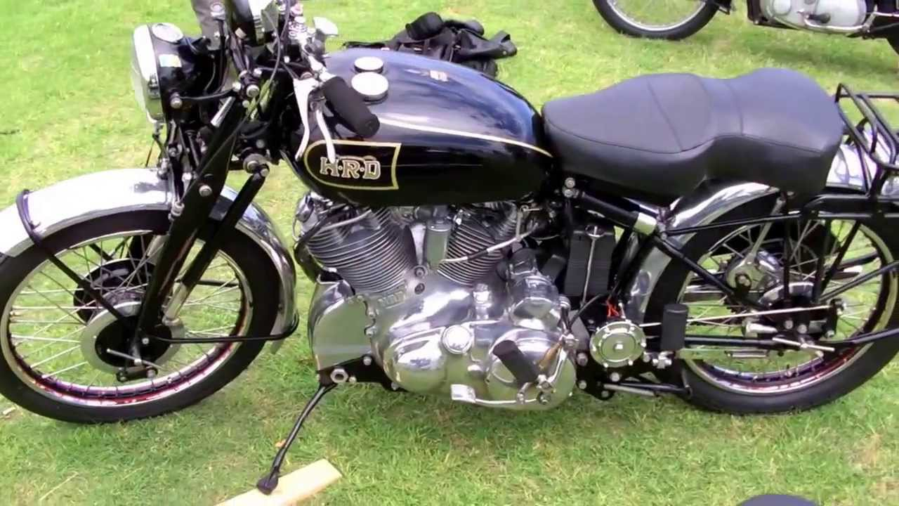 vincent motorcycle models early display late