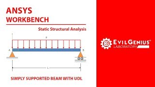 ANSYS Workbench Static Structural | Simply Supported Beam | Tamil | Evil Genius Laboratory | EG