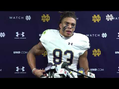 @NDFootball | Chase Claypool Post-Game Press Conference vs. Northwestern (2018)