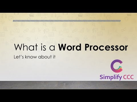 What is Word Processor ? (Hindi) वर्ड प्रोसेसर क्या होता है ? Simplify CCC What is... Series