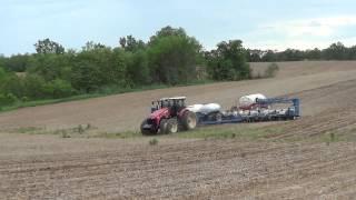 New Versatile 310 Tractor planting corn near Maysville Kentucky.