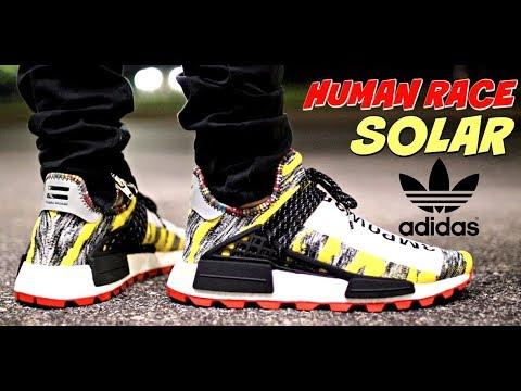 71f8805014ab8 BRICKS!!!) 📉ADIDAS HUMAN RACE HU SOLAR REVIEW   ON FEET - YouTube