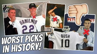 The WORST Draft Picks In MLB History Biggest Busts