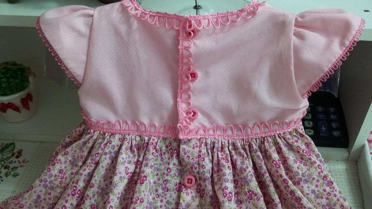 Vestido Infantil 3 E 4 Anos Molde Gratis Fechar Parte Traseira