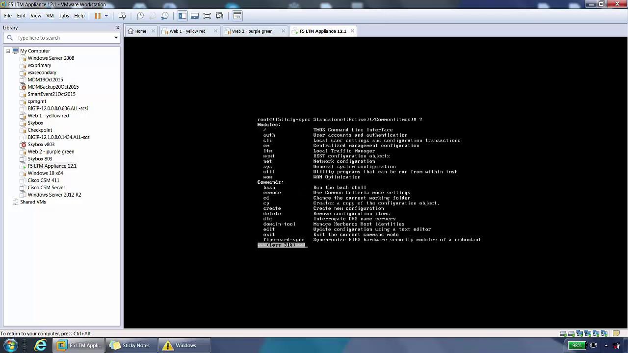 F5 BIG-IP LTM Command Line Demo