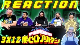 """My Hero Academia [English Dub] 3x12 REACTION!! """"End of the Beginning, Beginning of the End"""""""