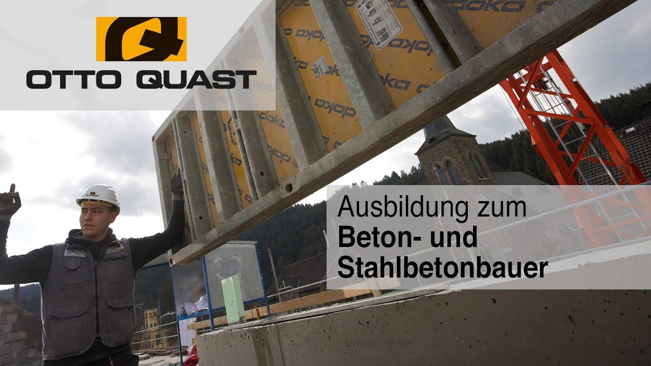 Ausbildung zum Beton- und Stahlbetonbauer (Baustelle) bei ...
