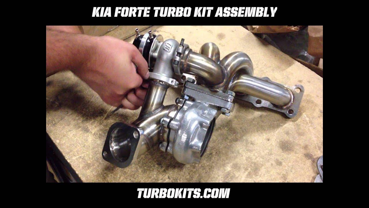 Kia Forte Turbo Kit Assembly   Manifold, Turbo (Turbine Housing), Wastegate  U0026 Turbo Outlet Pipe   YouTube
