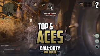 COD WWII: TOP 5 ACES OF THE WEEK #2 - Call of Duty World War 2