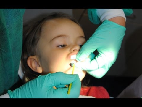 my toddler gets her chipped tooth fixed at the dentist...not really