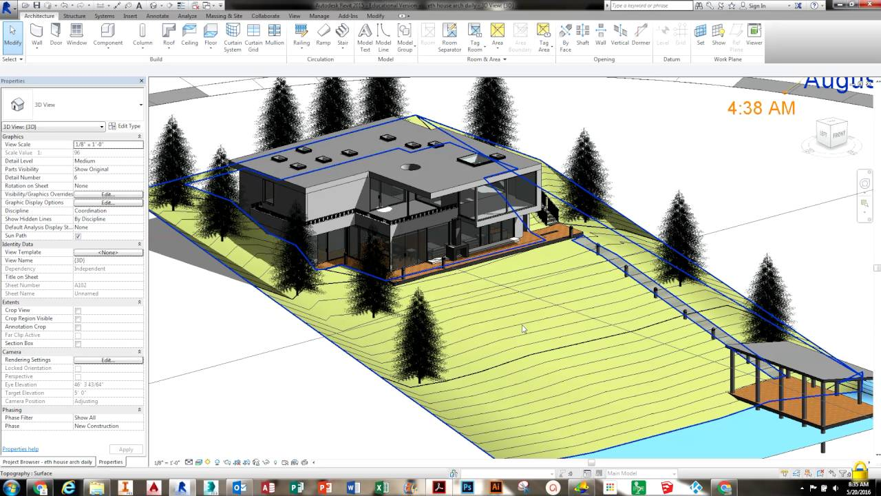 Revit exterior rendering youtube - Revit exterior rendering settings ...