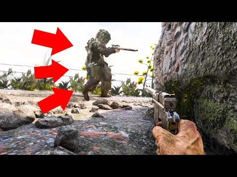HE WALKED PAST ME 20 TIMES?! (Call Of Duty: WWII - Hide and Seek)
