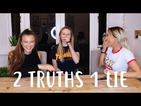 2 TRUTHS 1 LIE CHALLENGE! // FEAT. NIA PICKERING & TALIA MAR