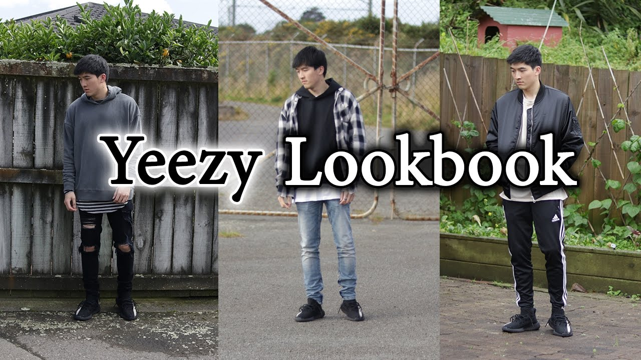 Yeezy Lookbook Outfit Ideas With Yeezy 350 V2 Ft Mnml Hyper