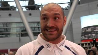 TYSON FURY RESPONDS TO REPORTER'S COMMENT THAT ANTHONY JOSHUA SAID KLITSCHKO WOULD KO HIM