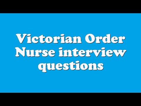 Victorian Order Nurse interview questions