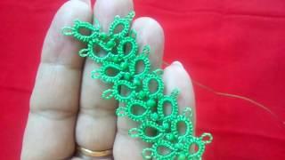 86-Shuttle tatting#Lesson-20,beaded spike lace(Hindi/Urdu)