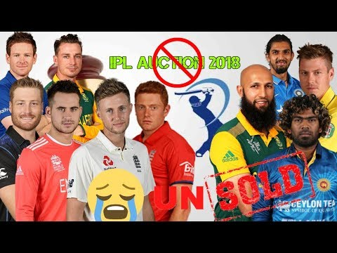 Top Unsold Player in Vivo IPL 2018 Auction | Latest team list ipl 2018 | #iplauction | #ipl2018