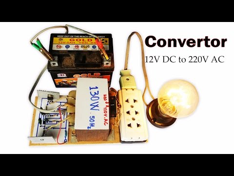 How to created easy Convertor 12V DC to 110V and 220V AC