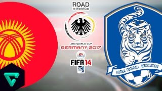 Kyrgyzstan vs. South Korea | Final Match | Road To World Cup Germany 2017 | FIFA 14