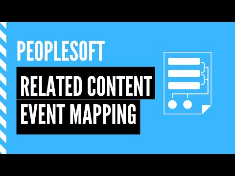 PeopleSoft Related Content Event Mapping