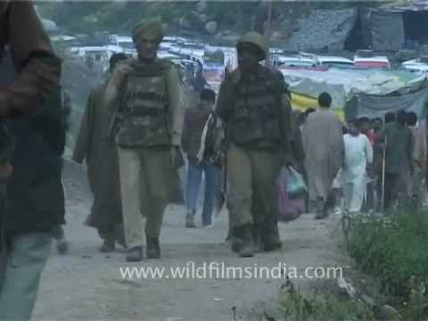 Indian security forces deployed to provide security to pilgrims at Amarnath Base-camp!