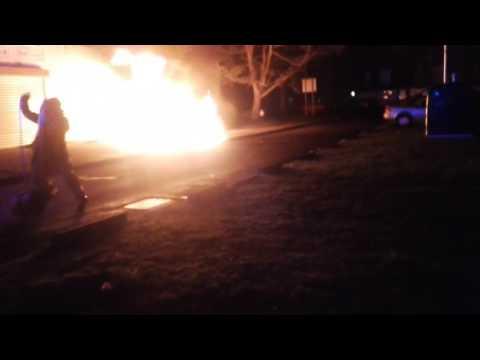 Incendie à Villepinte dans les quartier les Mousseaux