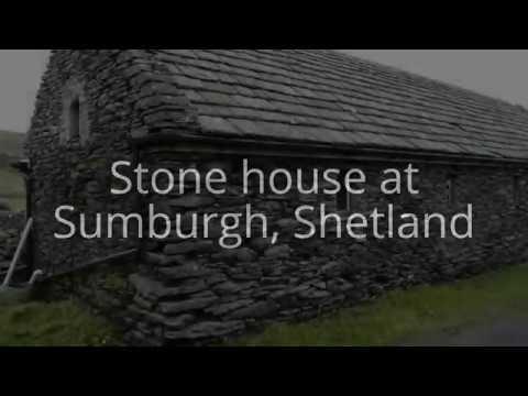 Stone house at Sumburgh, Shetland