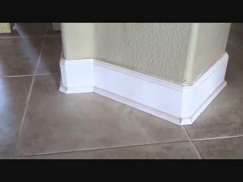 does baseboard get installed before or after a tile floor