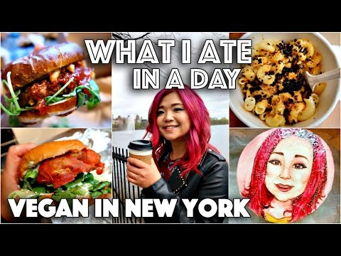 WHAT I ATE IN A DAY IN NEW YORK #2 (VEGAN AROUND THE WORLD #3)