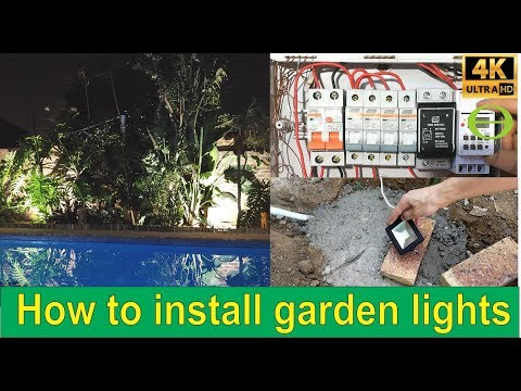 How To Install Outdoor Garden Lights - With Timer - Step By Step