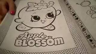 How to draw shopkins Apple Blossom Part II