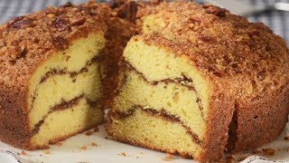 Cinnamon Streusel Coffee Cake Recipe Demonstration - Joyofbaking.com