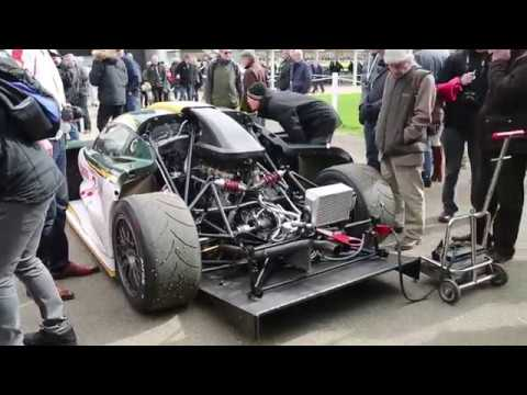 Lotus Elise GT1 startup, revs and on track at Goodwood Members Meet ...