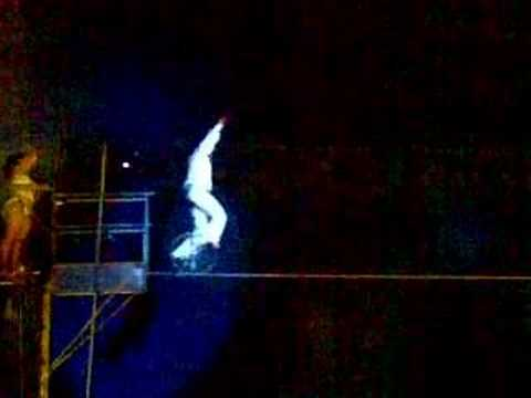 The best high wire circus act on a unicycle