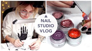 NAIL STUDIO VLOG | WATCH ME WORK | NAIL ART WORKSHOP | MARBLE, GALAXY, OMBRE, OPAL