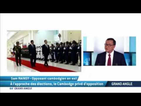 Mr. Sam Rainsy interview with TV5 Monde on 07-02-2017