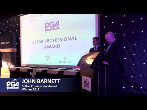 5 Star Professional Award: John Barnett - PGAs of Europe Annual Congress Awards