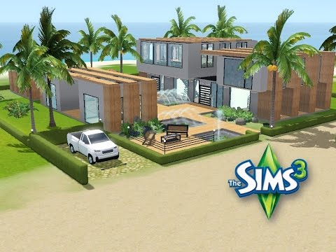 Sims 3 haus bauen let 39 s build modernes strandhaus for Modernes haus sims