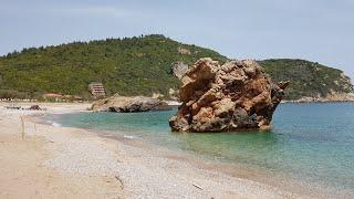 Дикий пляж Πάλτση (Палци). Пелион. Греция. Пляжи Греции. Пляжный отдых.