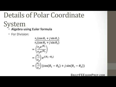 Daily FE Exam Prep - Algebra of Complex Numbers Lesson 04 - Polar Coordinate Systems