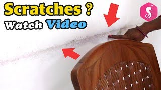 Best Solution for CHAIR Scratches on Wall | Easy Craft | Best Out Of Waste Old Saree