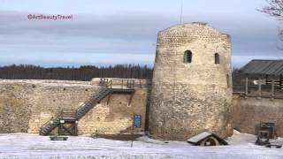 РУССКАЯ КРЕПОСТЬ 1330 г. Изборск 2016 // REAL RUSSIA 2016, RUSSIAN FORTRESS IN IZBORSK 1330 WINTER